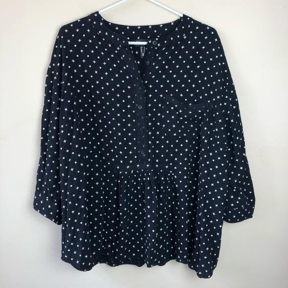 Love & Legend plus size 20 3/4 sleeve print shirt